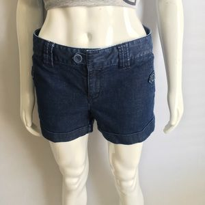Banana Republic Classic Dark Blue Jean Shorts Sz 6